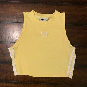 Adidas Cropped Yellow High Neck Tank